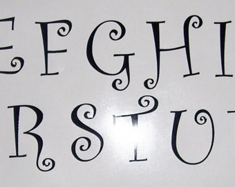 Black Vinyl Letter Decals, All 26 letters or 26 of one letter