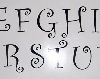 6 vinyl letter decals all 26 letters or 26 of one letter