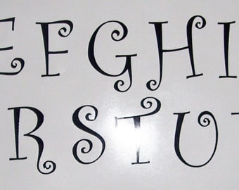 "6"" Vinyl Letter Decals, All 26 letters or 26 of one letter"