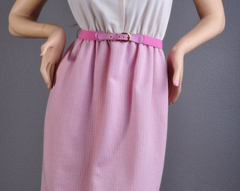 Gorgeous 60's Lavendar & White Pinstripe Dress