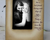 Distressed Vintage Picture Best Friend Mom Dad Sister Brother 4x6 Photo Frame - Personalized Gift - Keepsake