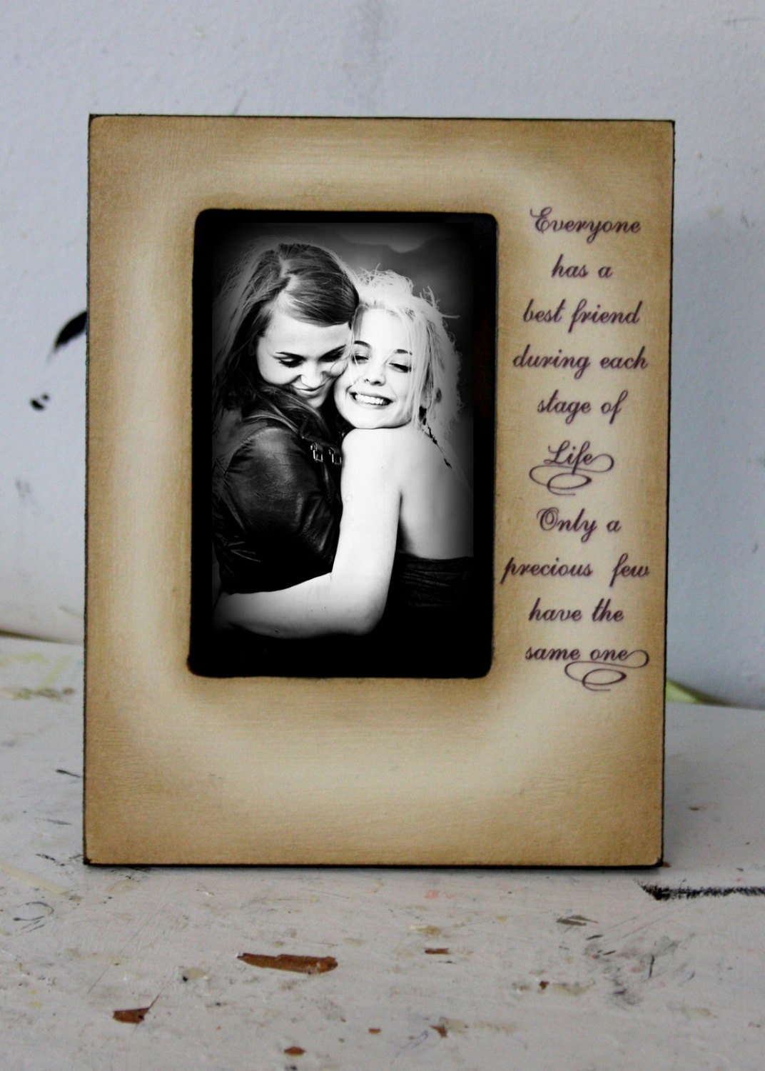 Wood Picture Frame For Best Friend Mom Dad Sister Brother