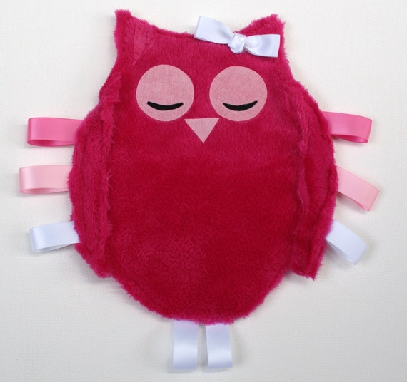 Pinky the owl taggie blankie