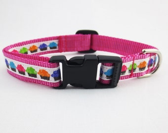 Small Cupcake Dog Collar