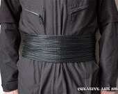 Mandalorian Bounty Hunter Leather Braided Cords Girth Belt