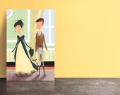 Jane Austen's Pride and Prejudice postcards (set of 5) - Elizabeth arrives at Netherfield.