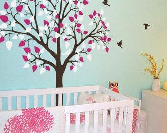 baum wand aufkleber kinderzimmer dekoration. Black Bedroom Furniture Sets. Home Design Ideas
