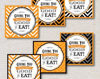INSTANT DOWNLOAD - Halloween Party Favor or Treat Tags - PRiNTABLE