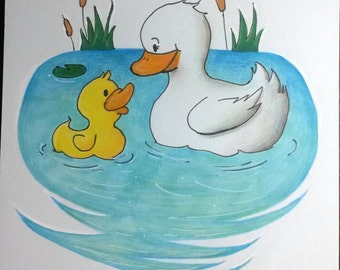 Duckies Sketch Card 100mm x 148mm