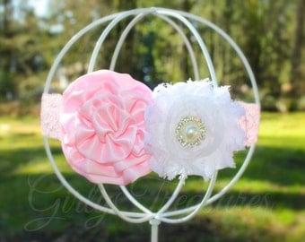 Glamorous Flower Headband. Baby Headband. Newborn Headband. Girl Headband. Toddler Headband. Birthday Headband. Photo Prop.