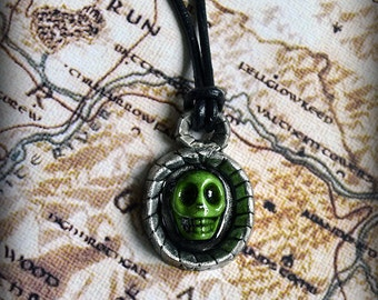 Necromancer Amulet Solid Pewter Skyrim inspired necklace pendant by Mortiis.M