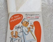 Get Well Card Vintage 1950's Sangamon Greeting Card Congratulations Operation Unsigned with Envelope