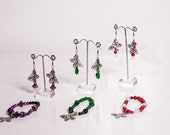 Flutter-by-Dreamer Elegant Butterfly charm bracelets in three colour choices- Pin-up Collection
