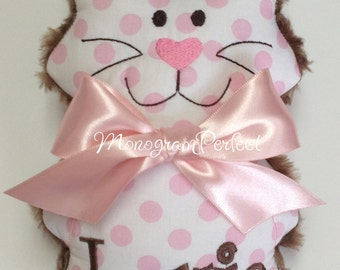 Lexie - Already Personalized Soft, Cuddly Polka Dot Kitty Soft Toy