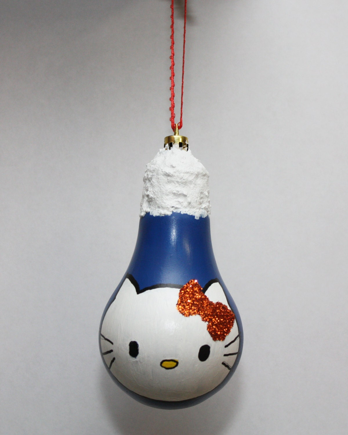 Hello kitty bulb ornament by donnascraftsandmore on etsy