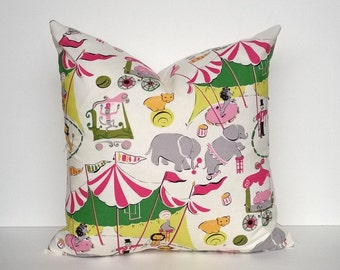 Circus Print Pillow Cover - Baby & Child