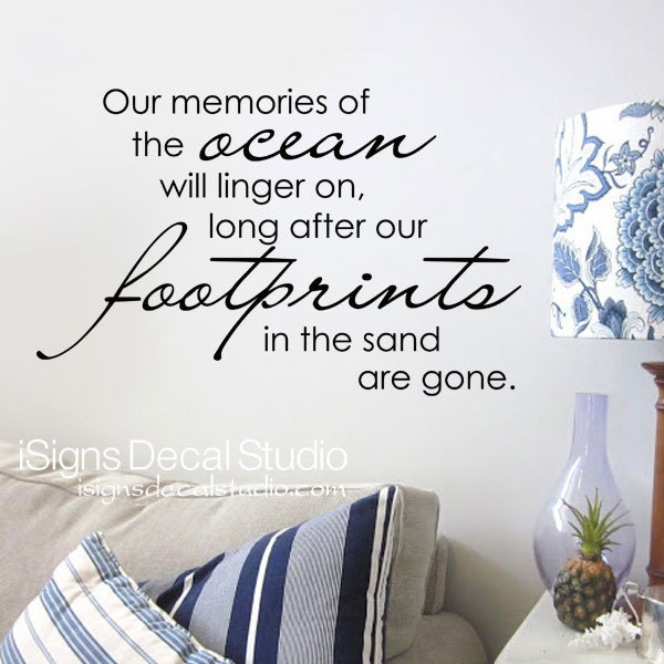 Beach Wall Quote Ocean Wall Decal Our Memories Of The