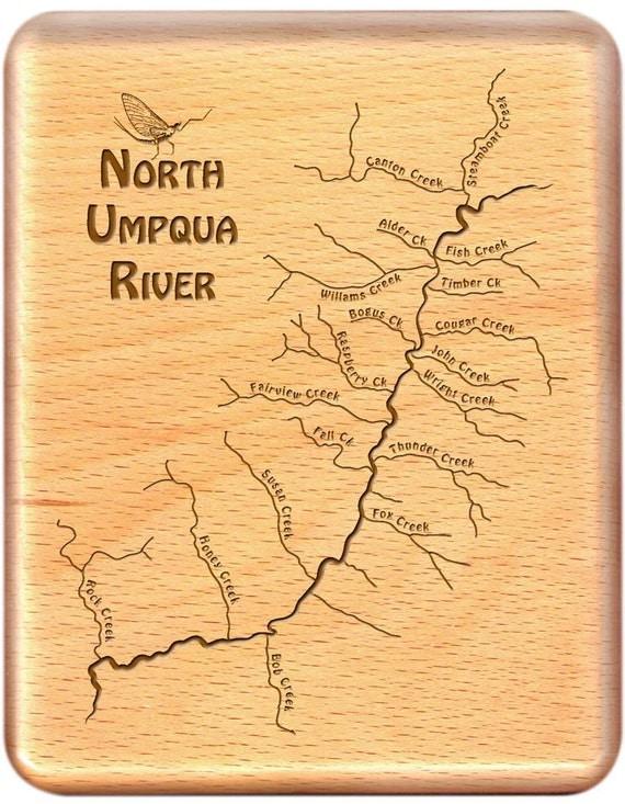 Umpqua River Map Fly Box North Umpqua River