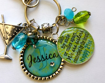 Your name here Personalized 21st birthday gift sister aunt daughter best friend side by miles apart we are sisters connected by the heart