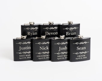 Personalized Groomsmen Gift, Engraved Flask, Groomsmen Flask, Wedding Party Gift, Best Man Gift, Flask