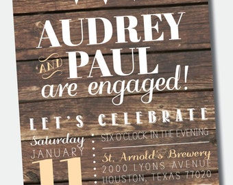 Rustic Invitation for Engagement Party /// Wedding /// Rehearsal Dinner