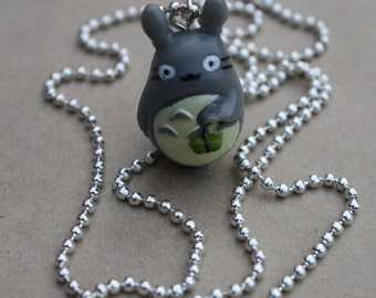 My Neighbor Totoro - Plastic Pendant on 60cm Shiny Silver Ball Chain