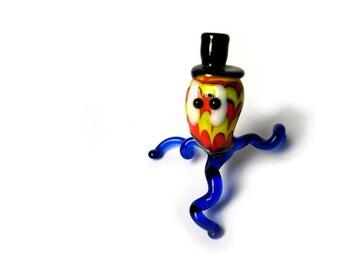 Small Murano blown glass figurine - mini murrina - hand made glass art figurine - 1980s