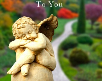 Sympathy Card With Cherub and Garden: Reassurance