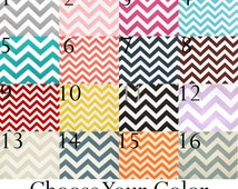 """Door Draft Stopper - 28, 30, 32, 34 or 36"""" Long - Door Snake Dodger - Great for Drafty Windows and Doors - Chevron - You Pick the Color!"""