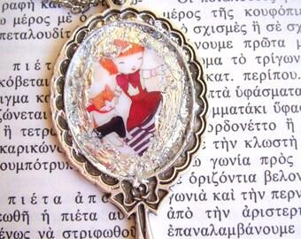 ginger cat, cat pendant, cat necklace, cat jewelry, for cat lovers, kittypendant, kitty necklace, cat gifts, cat accessories, cat lady gifts
