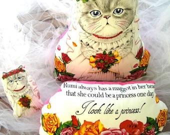 wedding gift, bride gift, cat doll, cat bride, wedding pillow, wedding decor, cat pillow, kawaii cat doll, gift for bride, gift for cat lady
