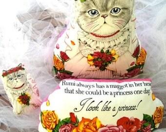 cat doll, stuffed cat doll ,cat toy, cat bride, wedding pillow, cat pillow, persian cat , kawaii cat doll, kawaii cat ,soft toys, cat bride