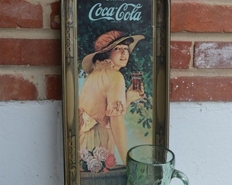 1972 WW I Girl Drink Coca-Cola Tray
