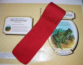 1960s  Boy's Square Tie - Red Knit - Graduate Style - So Cute