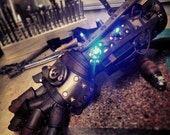Steampunk Leather Gauntlet - Cosplay / LARP / Costume Armor - Cyberpunk / Fantasy / Roleplay - Made to Order