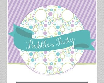 Bubbles Party Package - INSTANT DOWNLOAD