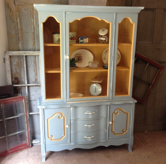 Country Kitchen Hutches: Kitchen Hutch French Country Painted Furniture By