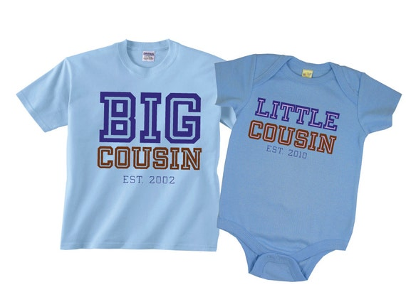 Big Cousin Little Cousin Matching Shirts In Collegiate