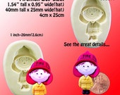 Fireman Boy Mold Flexible silicone - Fire Hydrant - Resin - Polymer clay - FOOD Safe - Fondant - Chocolate - Candy - Sugar S925M