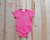 Pink Flower Girl Rhinestone Onesie. Infant Flower Girl Rhinestone Shirt. Baby Toddler Flower Girl Bodysuit Creeper. Flower Girl Rhinestone.