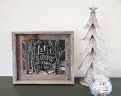 Let It Snow Sign - Birch Tree Decor - Chalkboard Christmas Decor - Illustrated Winter Sign - Chalkboard Art