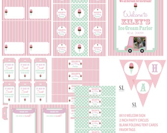 ICE CREAM PARTY printable party package