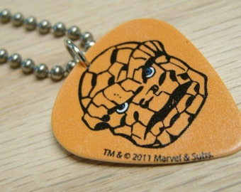 Classic The Thing Guitar Pick Necklace with Stainless Steel Ball Chain