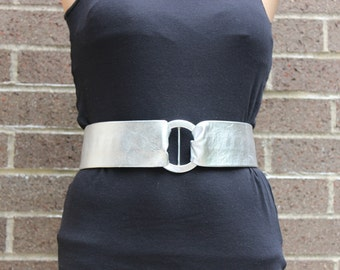 Leather Silver Vintage Blondie Rocker Belt Nina Arjani