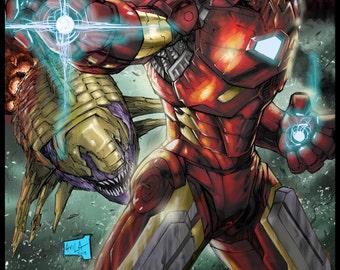 Iron Man 2013 Colored Print