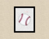 MLB Custom Any Team Baseball Printable Wall Art