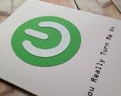 Geeky Valentines Card, Dirty Boyfriend Birthday Card, Nerd Husband Card, Turn Me On
