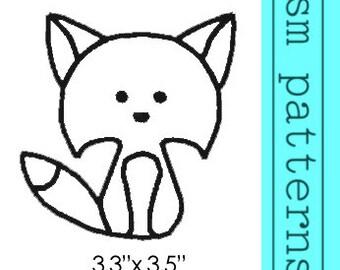 Machine Embroidery Design - Fox Outline - Immediate Download