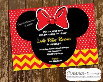 Geburtstagseinladung Minnie Mouse, Mickey U0026 Minnie, Minnie  Geburtstagseinladung, Minnie Mouse Geburtstag Einladen,
