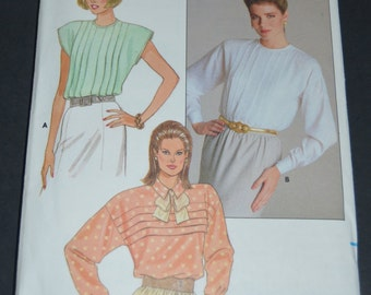 Butterick 3767 Misses Blouse Sewing Pattern - UNCUT - Sizes 6 8 10